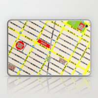 New York map design - empire state building area Laptop & iPad Skin