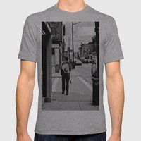 Life In a Guitar Town Mens Fitted Tee Athletic Grey SMALL