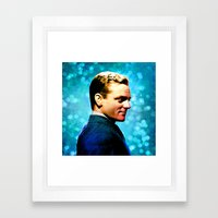 James Cagney, blue screen Framed Art Print
