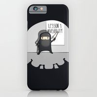 iPhone & iPod Case featuring Ninja lessons: Invisibility. by Manolibera