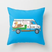 2 Bros. Plumbing Van Throw Pillow