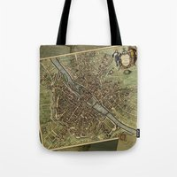 Old Paris Map and other manuscripts Tote Bag
