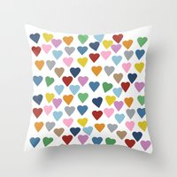 Hearts #3 Throw Pillow
