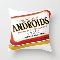 Androids Throw Pillow