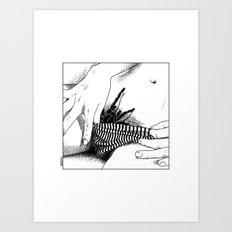asc 472 - L'heure du repas (Feeding time) Art Print
