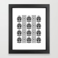 SaMuRaI pAtTeRn  Framed Art Print