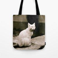Concrete Cat Tote Bag