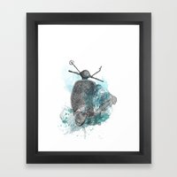 VESPA from the retro project Framed Art Print