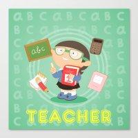Teacher Canvas Print