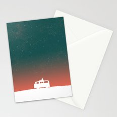 Quiet Night - starry sky Stationery Cards