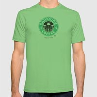 Black Coffee Mens Fitted Tee Grass SMALL