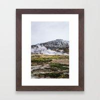 Icelandic Steam Framed Art Print