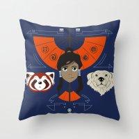 Spirited Avatar Throw Pillow