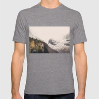 Winter Mountain Morning Mens Fitted Tee Tri-Grey SMALL