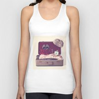 Vintage Journey Suitcase (His) (Retro and Vintage Still Life Photography) Unisex Tank Top