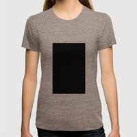 Black #6 (Jet) Womens Fitted Tee Tri-Coffee SMALL