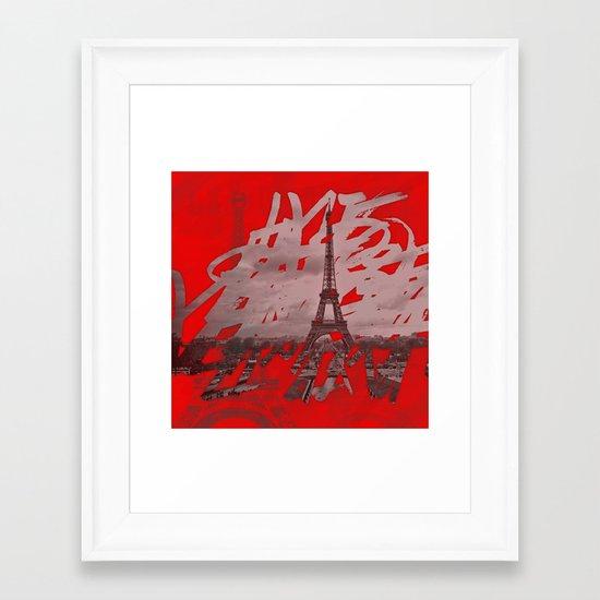 Je romps les habitudes à Paris. Framed Art Print