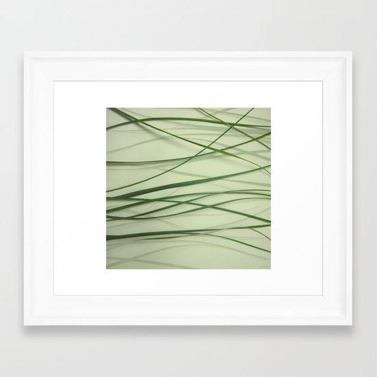 Grass Abstract Framed Art Print
