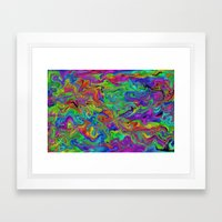 Atomic rainbow splash Framed Art Print