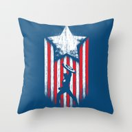 Throw Pillow featuring Patriot by Steven Toang