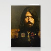 birthday Stationery Cards featuring Dave Grohl - replaceface by replaceface