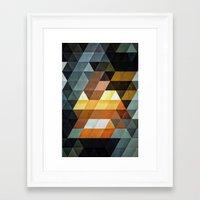 Gyld^pyrymyd Framed Art Print