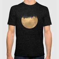 Brushed Gold Mens Fitted Tee Tri-Black SMALL