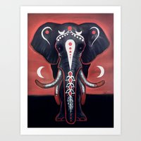 The Elephant Hasn't Forg… Art Print