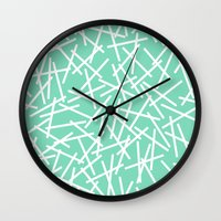 Kerplunk Mint Wall Clock