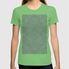 Ab Lace Black and Grey Womens Fitted Tee Grass SMALL