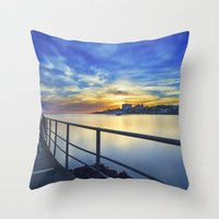 Smooth river. Throw Pillow
