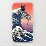 The Great Wave Of Pug   Galaxy S5 Slim Case