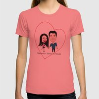 Rebecca Black and Simon Cowell are Friends Womens Fitted Tee Pomegranate SMALL