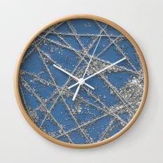 Sparkle Net Blue Wall Clock