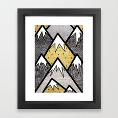 The Gold and Silver Hills Framed Art Print