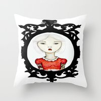Just a portrait Throw Pillow