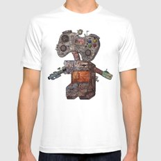 Gamebot White Mens Fitted Tee SMALL