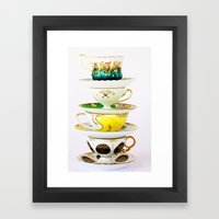 Tip Top TeaCup Framed Art Print