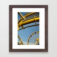 Santa Monica pier 3 Framed Art Print