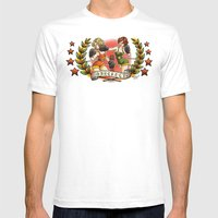 Knockout Mens Fitted Tee White SMALL