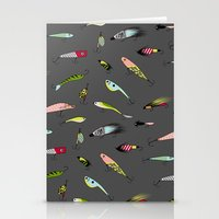 Fishing baits Stationery Cards