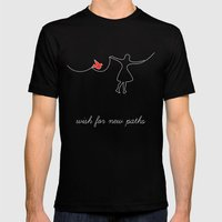 Wish For New Paths Mens Fitted Tee Black SMALL