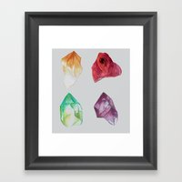 Minerals (2) Framed Art Print