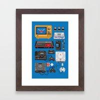 SErvice GAme History Framed Art Print