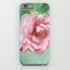 little pink rose iPhone 6s Slim Case