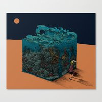 The ocean I met in desert Canvas Print