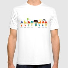 Snow White and the 7 dwarfs Mens Fitted Tee White SMALL
