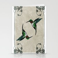 The Humming birds Stationery Cards