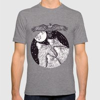Catch The Moon Mens Fitted Tee Tri-Grey SMALL