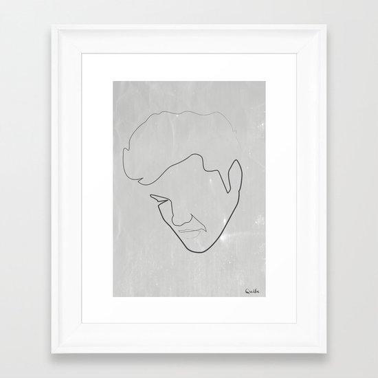 One line Elvis Framed Art Print
